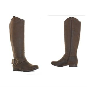 Shoes - Brown Suede Riding Boot